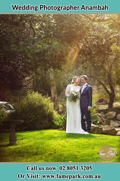 Romantic garden photo of the Bride and the Groom Anambah NSW 2320