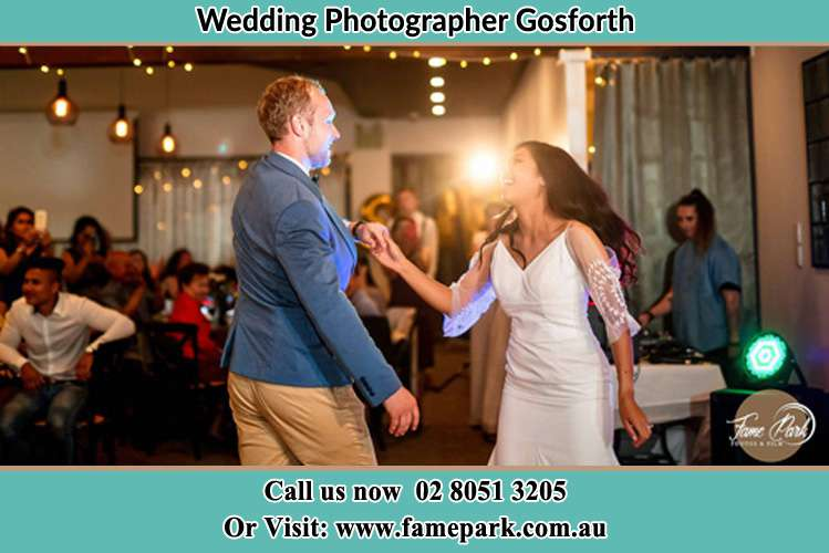 Photo of the Groom and the Bride dancing Gosforth NSW 2320