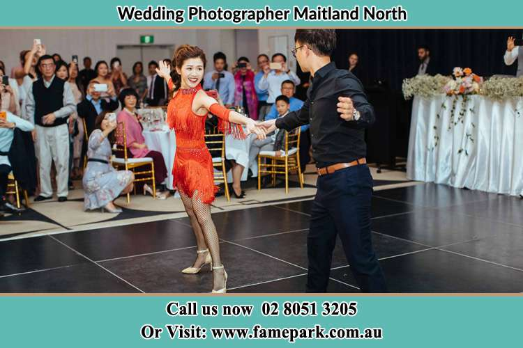 Photo of the Bride and Groom dancing Maitland North