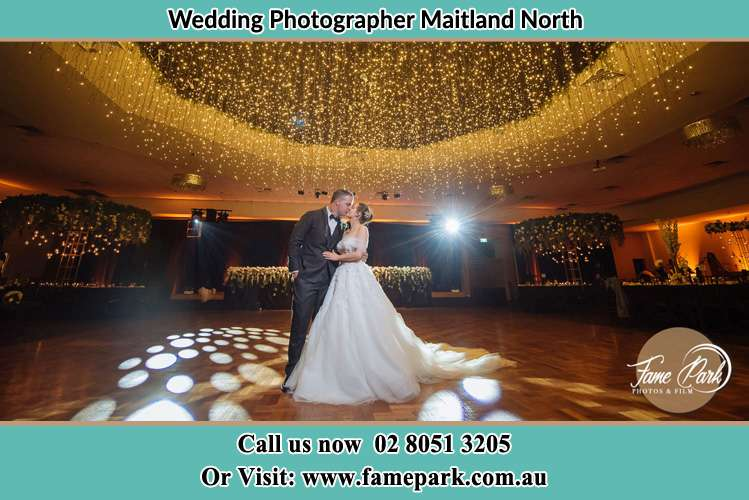 Photo of the Groom and the Bride kissing on the dance floor Maitland North NSW 2320