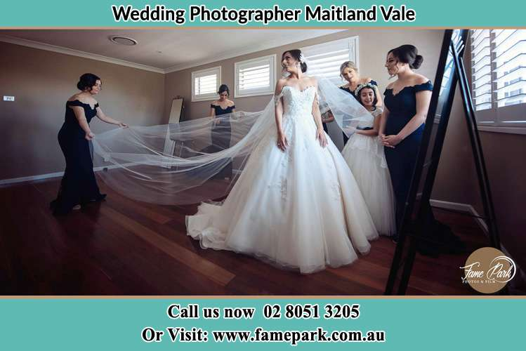 Photo of the Bride in Gown preparation Maitland Vale