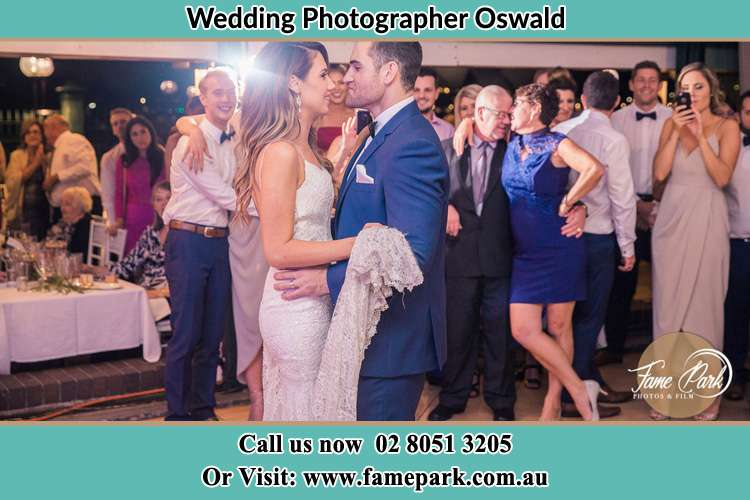 Photo of the Bride and the Groom dancing Oswald NSW 2321