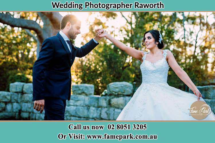 Photo of the Groom and the Bride dancing Raworth NSW 2321