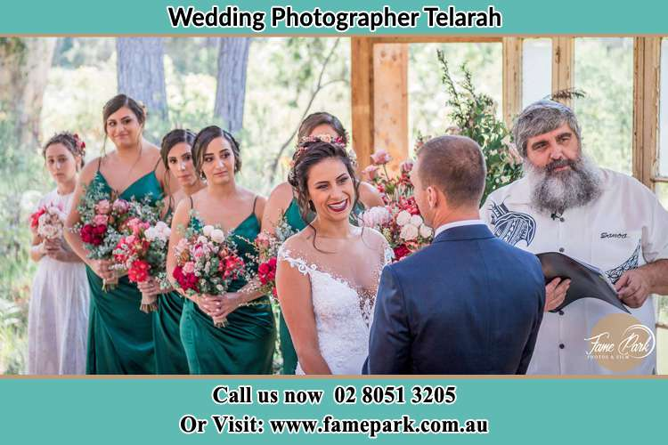 Photo of the Bride and the Groom during matrimony Telarah NSW 2320